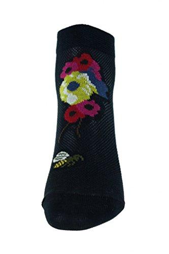 Chaussettes bleues fleuries Berthe aux grands pieds