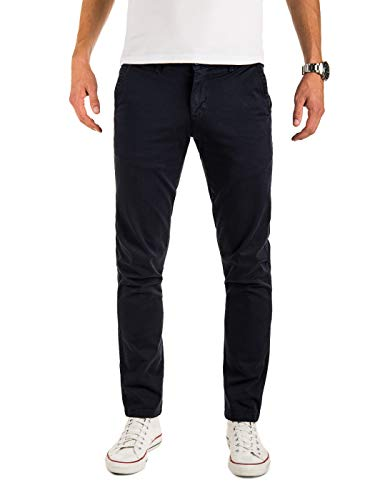 Yazubi Herren Chino - Modell Malphite by Yzb Jeans - Chinohose Business - Blaue Herren Chinohosen, Blau (Sky Captain 193922), W34/L34 Fit-chino