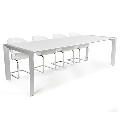 Alterego - Table à dîner extensible 'TITAN' design blanche - 190(270) x95 cm
