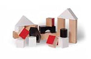 El Nan Blocks Juego Construcción Juguetes de Madera Variedad de Formas 18 Bloques (V34)