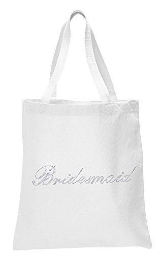 White Bridesmaid White Luxury Rhinestone Crystal Bride Tote bag Bridal Shower wedding party gift bag by CrystalsRus