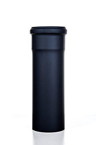 An camini anf03080 - tubo in acciaio 25 cm, diametro 80 mm per stufa a pellet canna fumaria scarico fumi