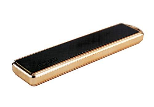 CIGER Mechero Eléctrico, Encendedor Antiviento Electronico USB Recargable Sin Llama Dorado (Negro)