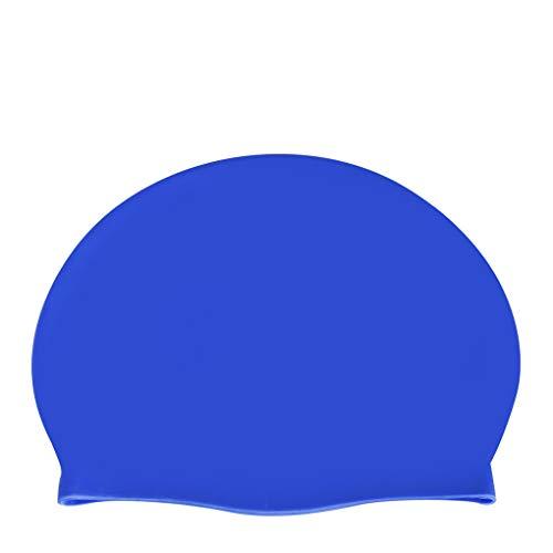 Sunlera BOIHON Unisex Erwachsene Flexibilität Pool Caps Frauen-Mann-Silikon-Schwimmen-Hut Ohren schützen Haar Mütze