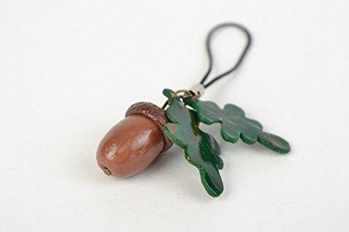 Schlüsselanhänger Clay (Handmade Schlüsselanhänger aus Polymer Clay in Form der Eichel originell)