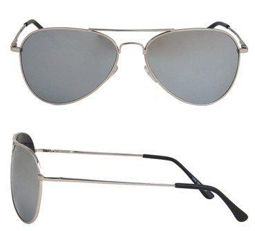 NICK and BEN Der Klassiker der 70er und 80er Jahre. Die Pilotenbrille ist Immer noch voll im Trend. Hochwertige Ausführung mit Federbügeln. Gestell Metall verchromt - Gläser Silber verspiegelt