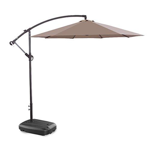 XC Regenschirm Sonnenschirm Hofschirm Eisenkunstfalten Sonnenschirm im Freien Sonnenschirm mit Regenschirm, Regenschutz, winddichter Regenschirm Enthält Keine Basis (Farbe : A)