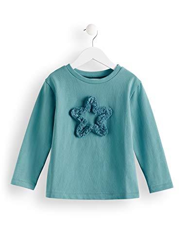 RED WAGON Mädchen Star Fringe Sweat T-Shirt, Türkis (Dark Turquoise), 146 (Herstellergröße: 11) -
