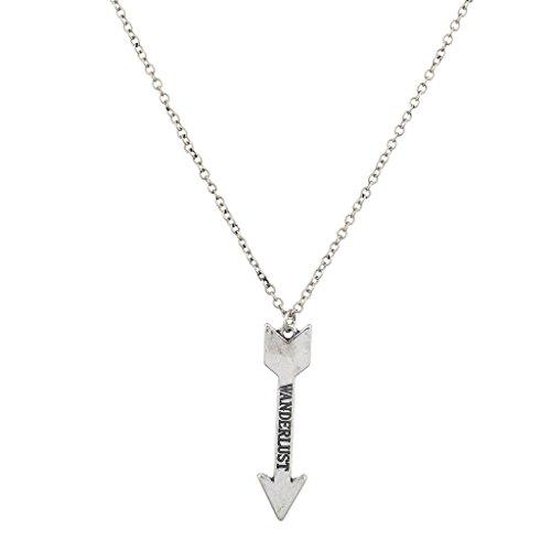 lux-accesorios-boho-burnish-plata-wanderlust-palabreria-flecha-colgante-collar