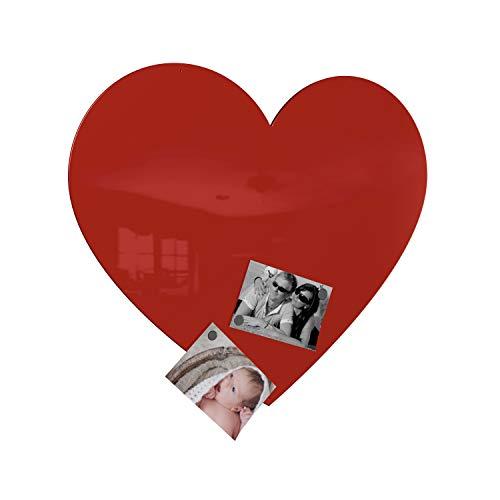 Colours-Manufaktur Herz Magnetwand - XXL groß hochglanz (rot glänzend)