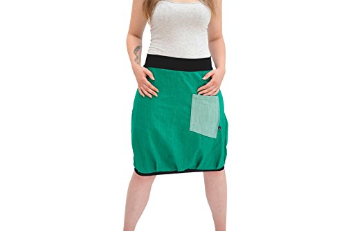 Ballonrock PAULIZ – grüner Damen Ballonrock aus Jeans - 2