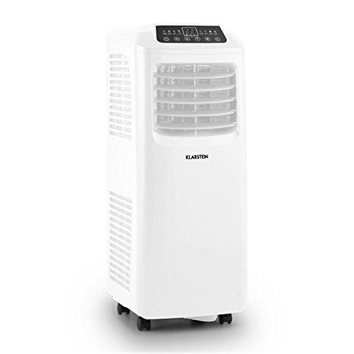 Klarstein Pure Blizzard 3 2G Climatiseur mobile sur roulettes (écran LED, timer, systeme d'evaporation de l'eau automatique, 7000 BTU/h, reservoir 19,2L) - noir
