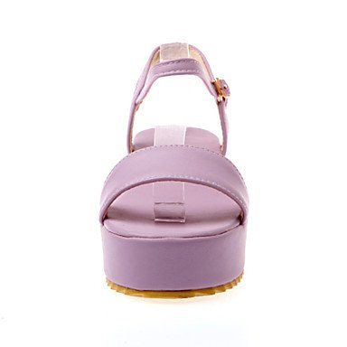 LvYuan Damen-Sandalen-Büro Kleid Party & Festivität-PU-Keilabsatz-Andere-Blau Lila Mandelfarben Purple