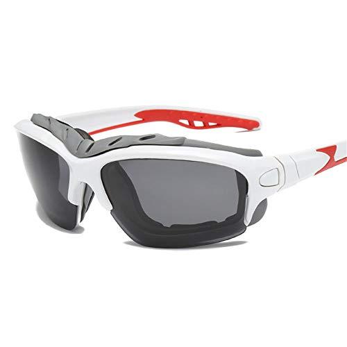 Das Ende der Wüste Polarized Light Outdoor Männer und Frauen Allgemeine Sport-Sonnenbrillen schützen Sich vor dem Sandblasen (Farbe : Weiß) (Oakley Sonnenbrille Sport Frauen)