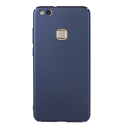 Huawei P10 Lite Mattierter Stil Einrasten Harter Fall PC Fall Abdeckungs Schutzde Shell Stoßdämpfer Haut HuaForCity® Anti-Fingerabdruck Anti-Rutsch für Huawei P10 Lite Color: Blau
