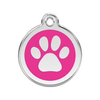 RedDingo enamel pet id tag, large,