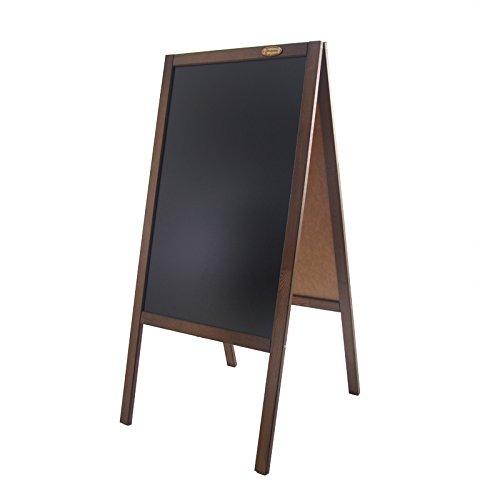 Kundenstopper 117 cm Holz Tafel Aufsteller Werbetafel Holztafel Werbeaufsteller (dunkelbraun)