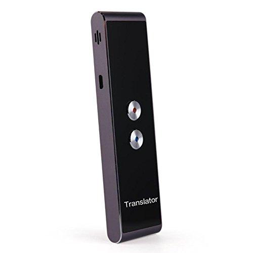 Smart Übersetzer Sprachübersetzer mit Spracheingabe und Sprachausgabe Simultanübersetzung Translator Bluetooth Reiseübersetzer Gerät für 34 Sprachen Tragbarer Wiederaufladbarer Deluxe Übersetzer