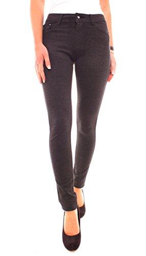 Tendance Pantalon Leggings Miss Anna Low Rise Tube hanches Jeans Skinny Coupe gris foncé