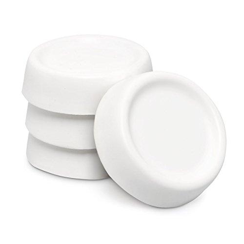 relaxdays 10017884 patin anti vibration pour machine laver blanc lot de 4 pieds mode et. Black Bedroom Furniture Sets. Home Design Ideas
