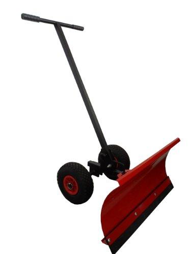 Schneeschieber - Einachser auf Rädern / Schwarz / Schneeschild aus hochwertigem Stahl mit Pulverbeschichtung 1,5 cm stark, 75 cm Arbeitsbreite