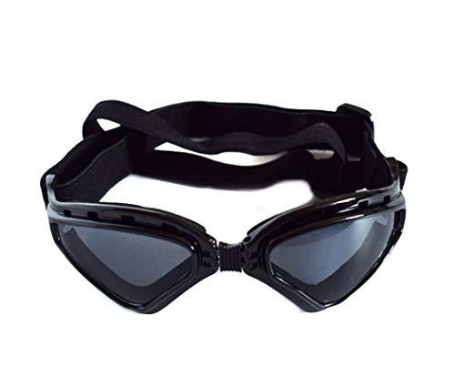 Pet sunglasses Falten Hund Sonnenbrillen UV Schutz Brille Winddicht Brille Hund Brille für Welpen Doggy Cat Black (Farbe : Schwarz)