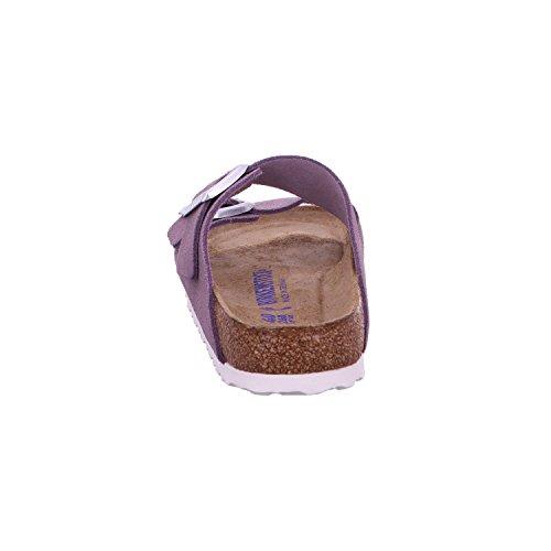 Birkenstock Arizona Leder Softfootbed, Ciabatte Donna Viola (Lavender)