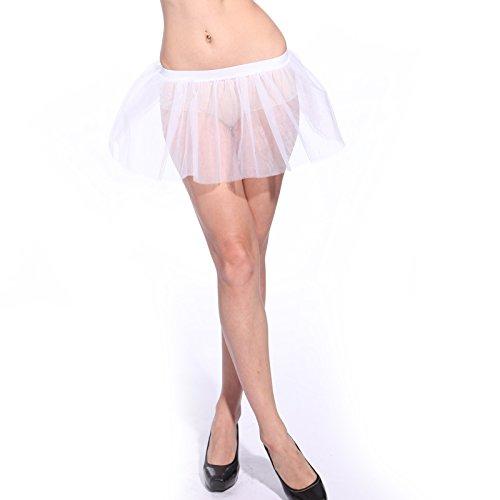 Neon Tütü Tutu Ballettrock Tüllrock 1 Lage Petticoat Ballettkleid Rock (1980 Frauen Kostüme Halloween)