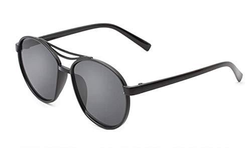 Epinki Damen Polarisierte Sonnenbrille Sonnenbrille UV400 Schutz Retro Brille | Vollrand | für Outdoor Sport, Reise - Schwarz Grau