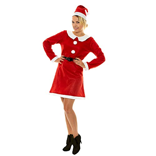 Claus Womens Mrs Kostüm - sowest Miss Santa Kostüm Womans Mrs Claus Weihnachtsmann Xmas Fancy Dress Outfit