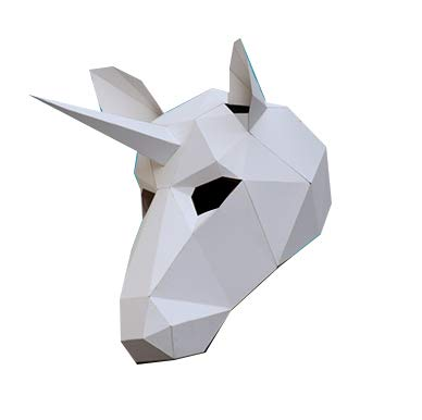 3D Papier Maske Tierkopf Formen DIY Craft Kit, Halloween, Party Kostüm oder Cosplay ()