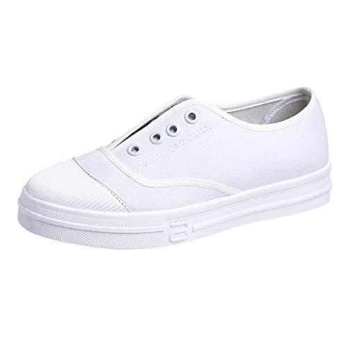 LMMET Scarpe da Ginnastica Basse Donna,Classic Sneakers Donna,Scarpe Basse di Tela, Scarpe Casual, Scarpe Basse, Scarpe Pigre, Scarpe Bianche