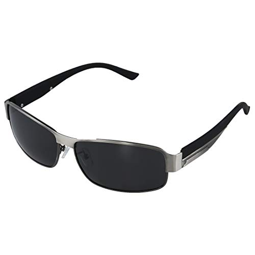 SODIAL (R) Fashion Driving Glaeser polarisierte Maenner Sonnenbrillen Outdoor Sport Goggles Augenschutz Brille - Silber