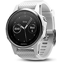 Garmin Fenix 5S - Reloj Multideporte, con GPS y medidor de frecuencia Cardiaca, Lente de Cristal y Bisel de Acero Inoxidable, 42 mm, Color Blanco (Reacondicionado)