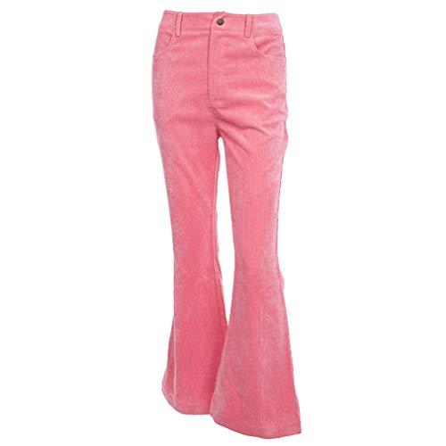 a9aedf17014 Mujer Pantalones de Pana, Pantalones de Campana Cintura Alta Color Sólido  Elegante Pantalones.