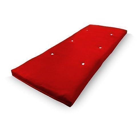 Shopisfy Futon Mattress Foldable - Red - 75cm (29.5