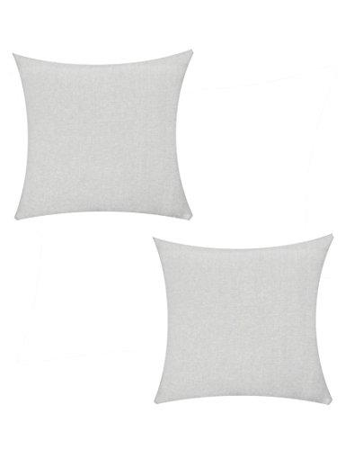 Jyotex Cotton 2 Piece Cushion COVER- 16'' x 16'', Grey