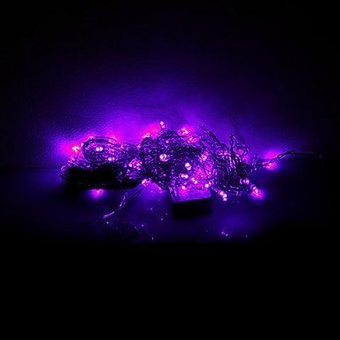 Dngy* 3x0.6x0.4M 100 LED Halloween Natale luci decorative festosa di luci al neon-ghiacciolo luce viola (220V)