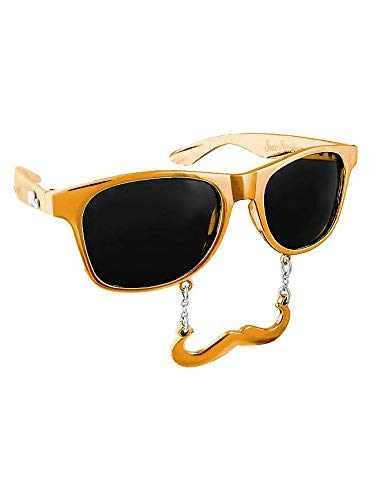 Sun Staches - Classic Gold Partybrille Brille mit Bart