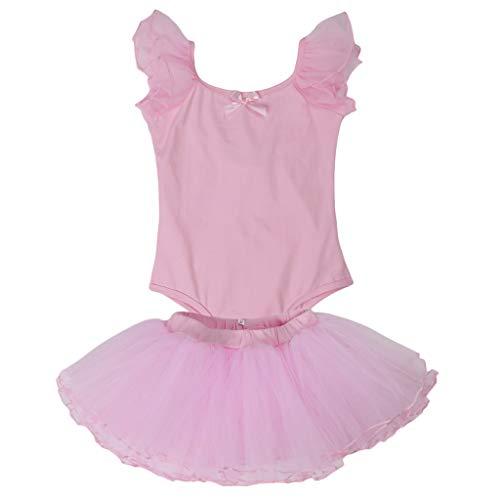 Baoblaze Kinder Mädchen Gymnastik Ballett Tanzbekleidung Trikot Tutu -