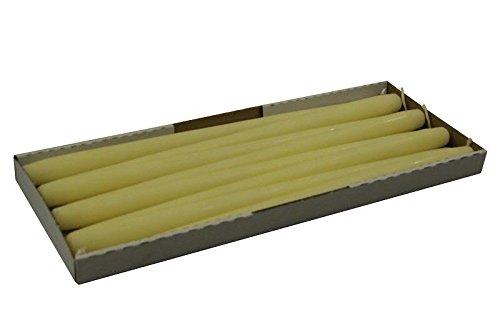 Lange/Große & Stabile Spitzkerzen - Elfenbein - Länge 40cm/Ø 2,5cm - 8 Stück im Pack - Hohe Brenndauer (14 Stunden) & Einwandfreies Brennverhalten - Altarkerzen/Leuchterkerzen