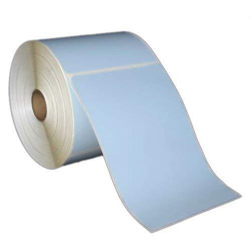 10,2x 15,2cm Direct Thermo-Papier Etiketten-Rollen-12,7cm OD-2,5cm Core-1Box-für Zebra und andere Thermal Barcode Label Drucker blau