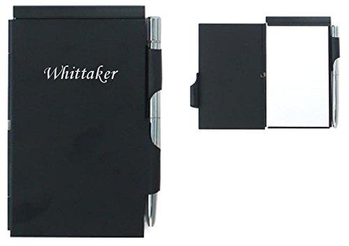 cuaderno-de-notas-con-un-boligrafo-nombre-grabado-whittaker-nombre-de-pila-apellido-apodo