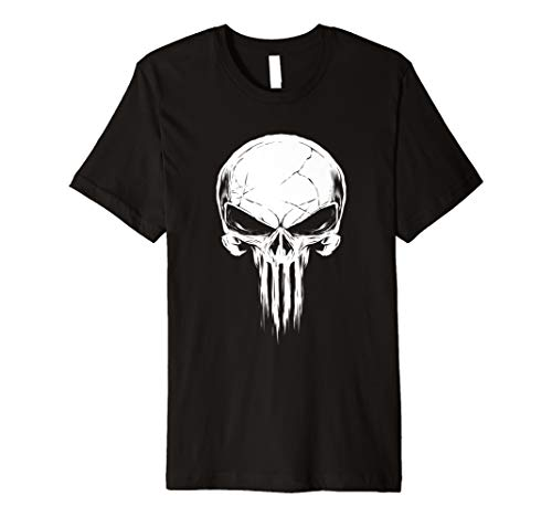 Marvel The Punisher Distressed Skull Logo T-Shirt -