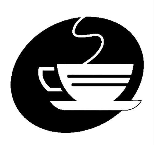 Mrlwy 4 stücke 14,9 cm * 13,1 cm Kaffee Mode Auto-Styling Auto Zubehör Aufkleber Abziehbilder Schwarz -