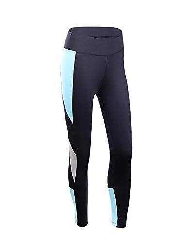 EUFANCE Frauen Outdoor Fitness Sport Aktiv Yoga Hose Laufen Gym Workout Strumpfhose Legging Hose Blau