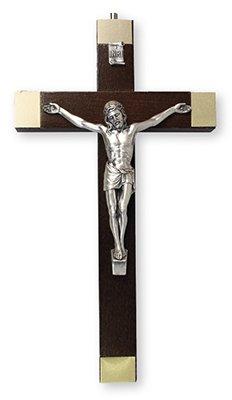 20cm in legno di noce crocifisso croce da appendere alla