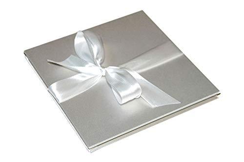 Leporello Fotoalbum mit Stoff 15x15cm, Hochzeitsalbum (Fotoalbum Elfenbein)