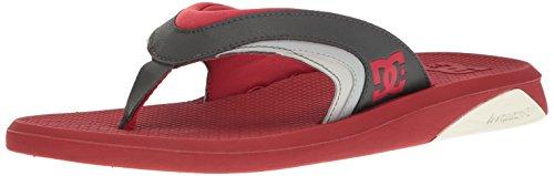 DC Shoes Men's Recoil Flip Flops Sandals Red (rgy)