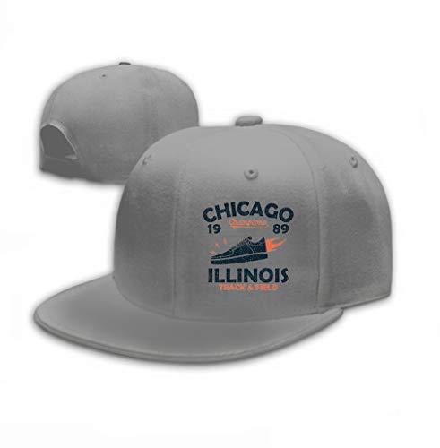 Adjustable Cotton Hat Fashion Cotton Denim Baseball Cap Chicago Illinois Track Field Athletics Typography sn Gray
